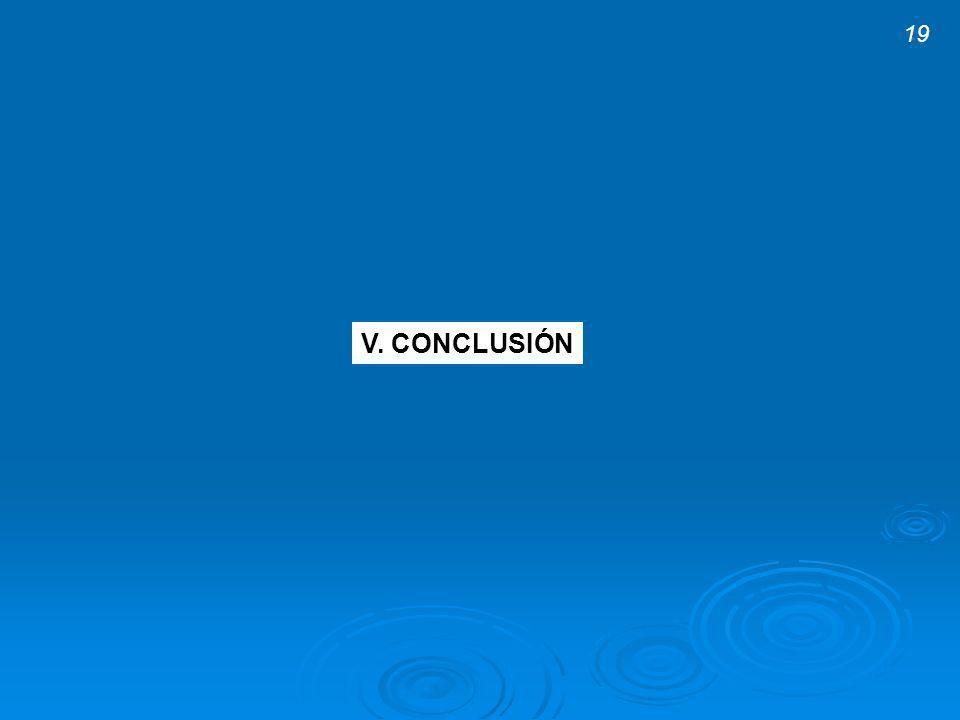 19 V. CONCLUSIÓN