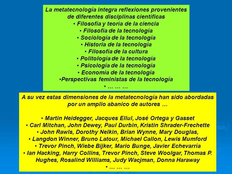 La metatecnología integra reflexiones provenientes