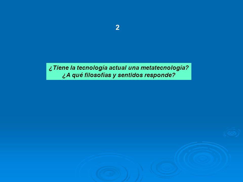 2 ¿Tiene la tecnología actual una metatecnología
