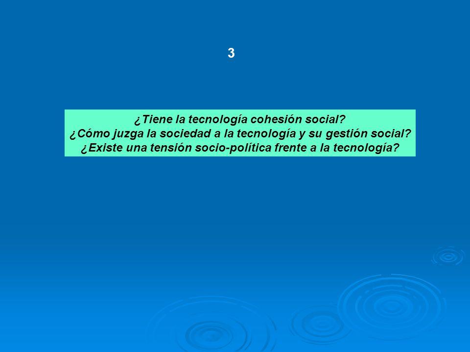 3 ¿Tiene la tecnología cohesión social