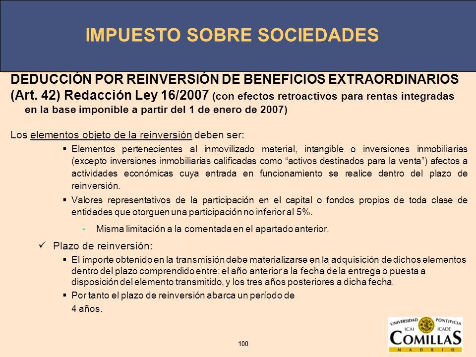 DEDUCCIÓN POR REINVERSIÓN DE BENEFICIOS EXTRAORDINARIOS