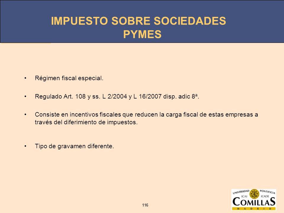 PYMES Régimen fiscal especial.