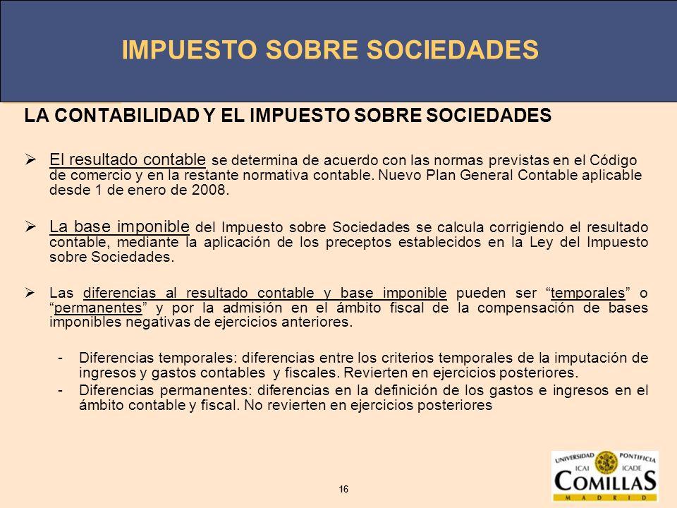 LA CONTABILIDAD Y EL IMPUESTO SOBRE SOCIEDADES