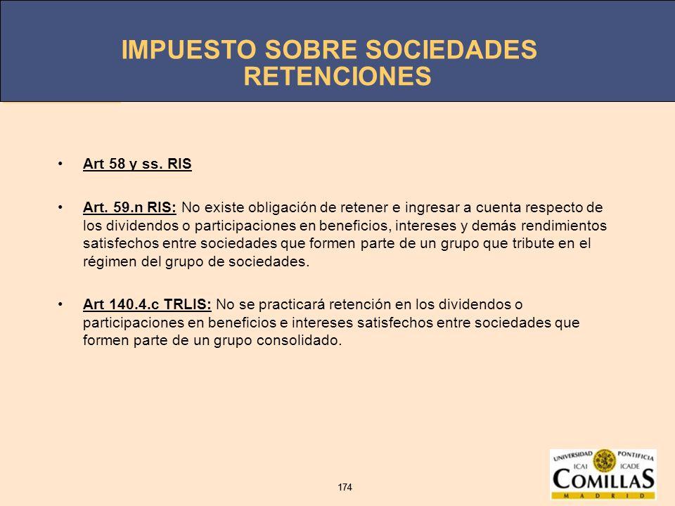 RETENCIONES Art 58 y ss. RIS