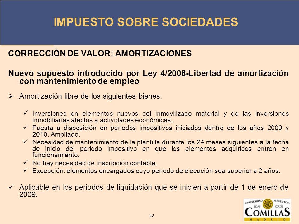 CORRECCIÓN DE VALOR: AMORTIZACIONES