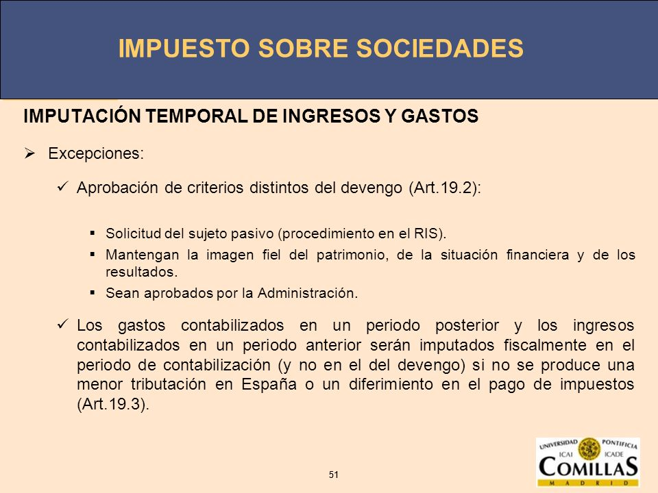 IMPUTACIÓN TEMPORAL DE INGRESOS Y GASTOS