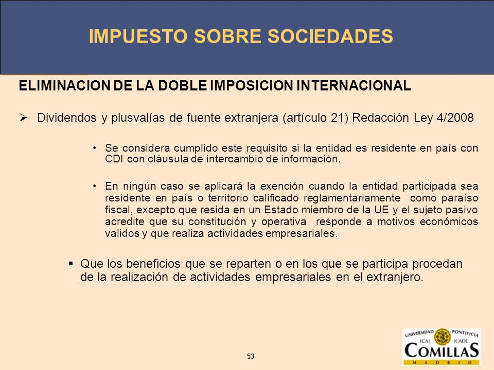 ELIMINACION DE LA DOBLE IMPOSICION INTERNACIONAL