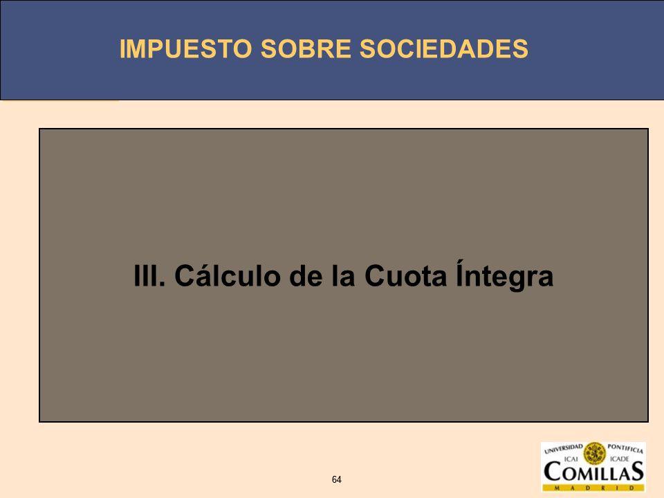 III. Cálculo de la Cuota Íntegra