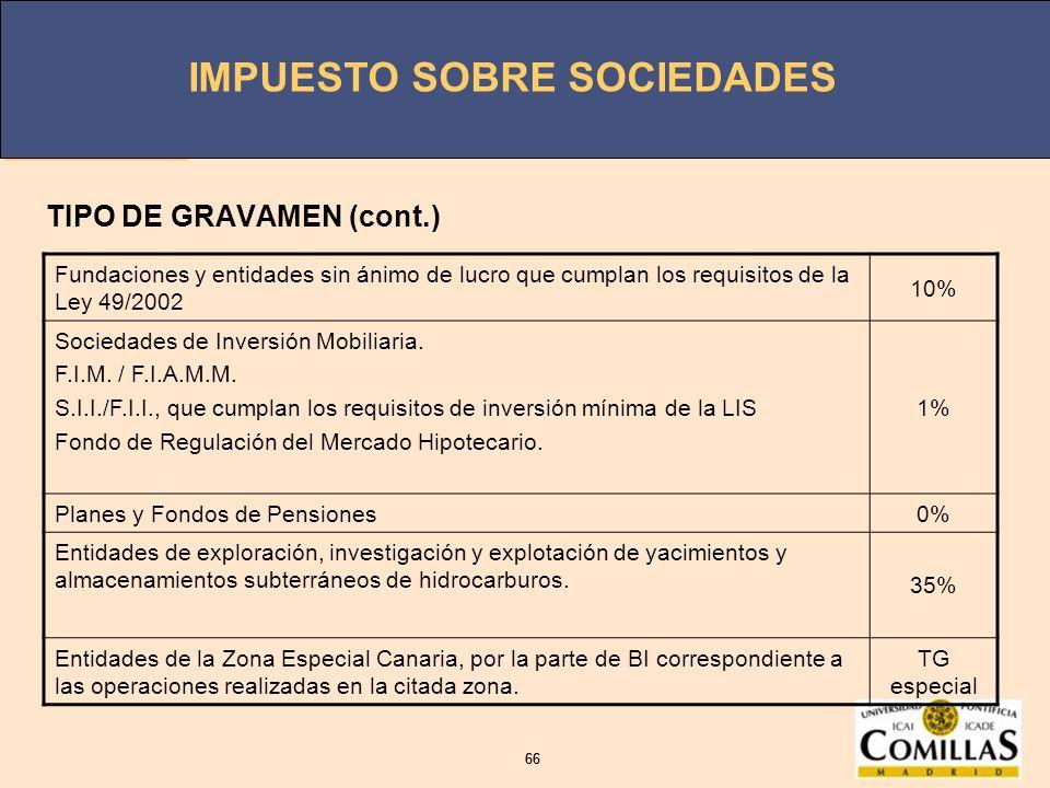 TIPO DE GRAVAMEN (cont.)