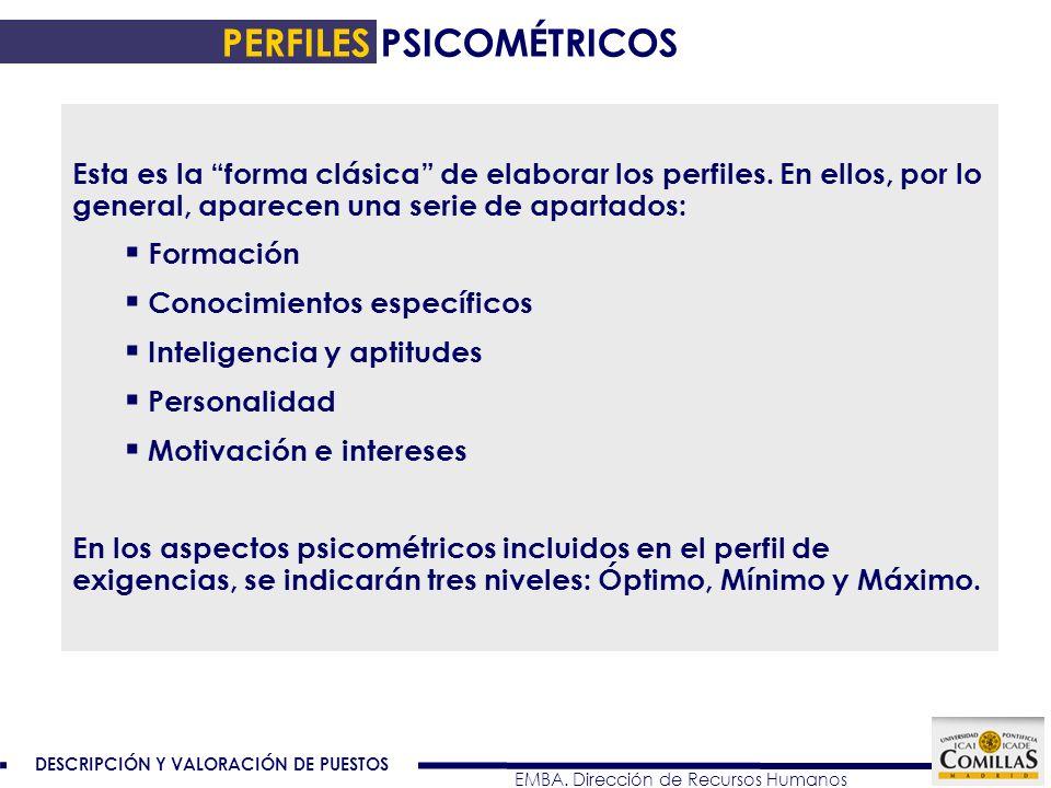 PERFILES PSICOMÉTRICOS