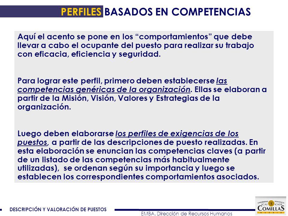 PERFILES BASADOS EN COMPETENCIAS