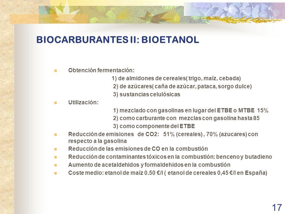 BIOCARBURANTES II: BIOETANOL