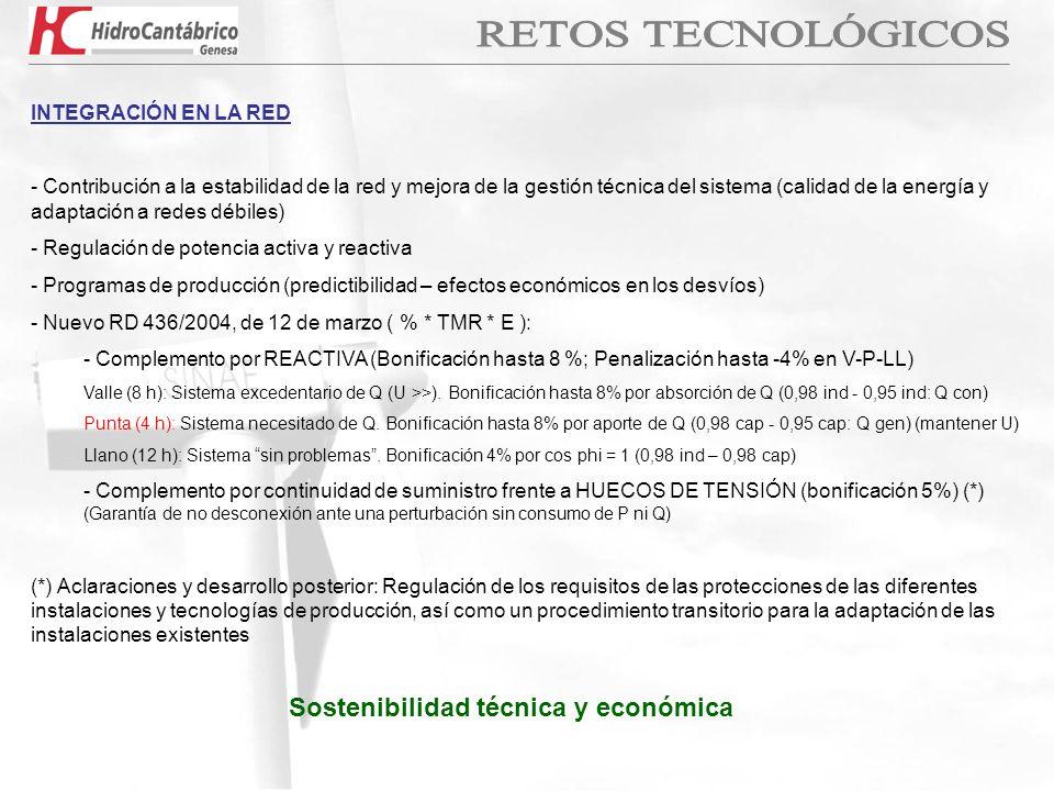 Sostenibilidad técnica y económica