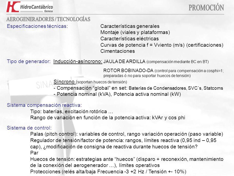 AEROGENERADORES / TECNOLOGÍAS