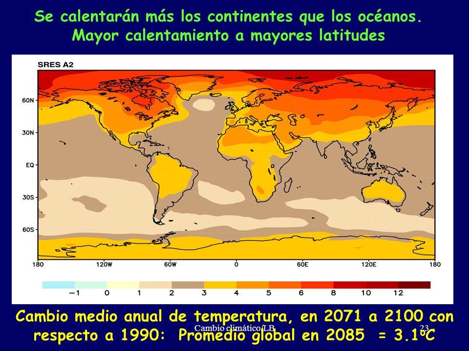 Se calentarán más los continentes que los océanos