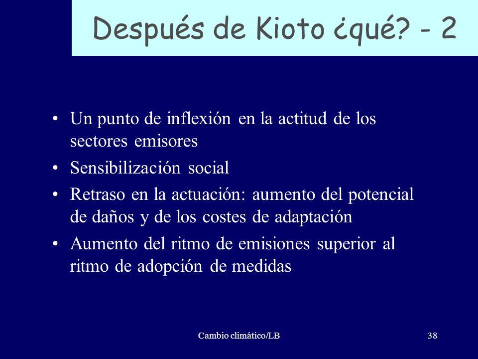 Después de Kioto ¿qué - 2 Un punto de inflexión en la actitud de los sectores emisores. Sensibilización social.