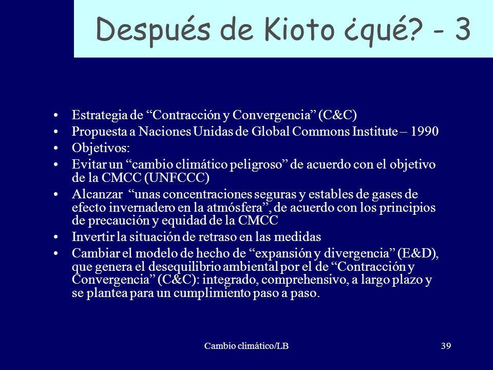 Después de Kioto ¿qué - 3 Estrategia de Contracción y Convergencia (C&C) Propuesta a Naciones Unidas de Global Commons Institute – 1990.