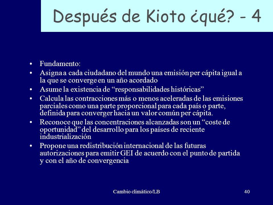 Después de Kioto ¿qué - 4 Fundamento: