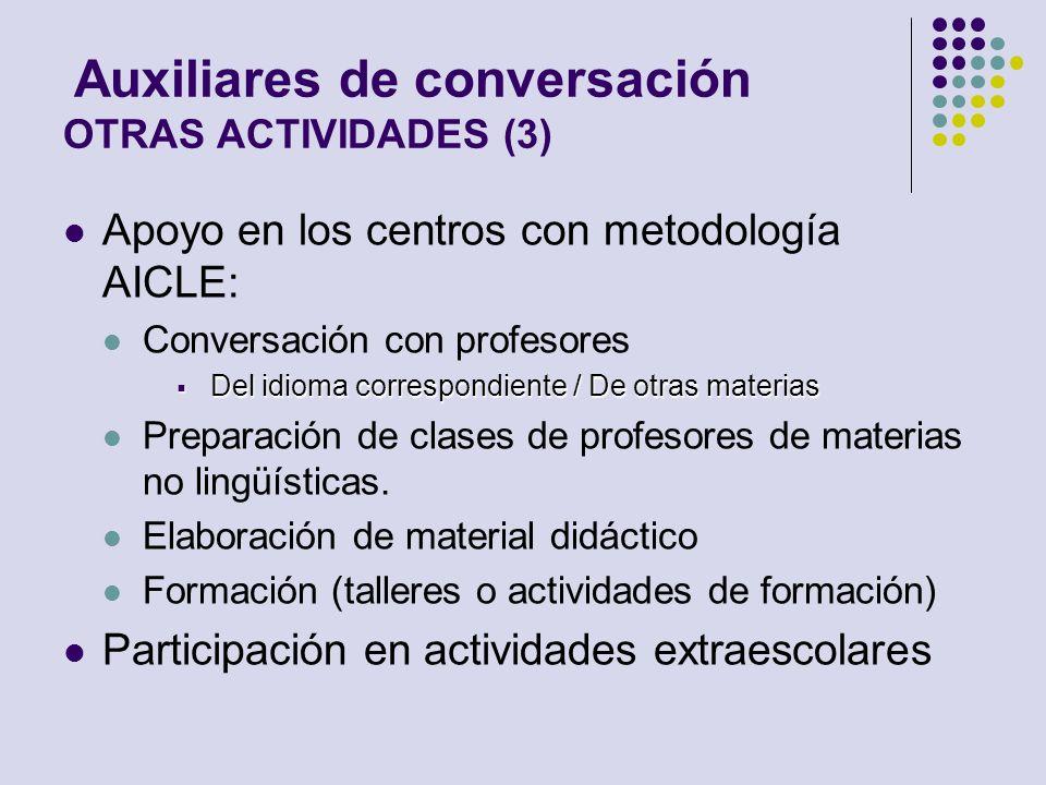 Auxiliares de conversación OTRAS ACTIVIDADES (3)
