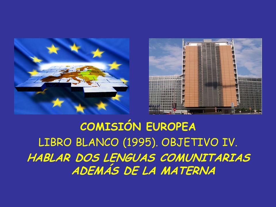 HABLAR DOS LENGUAS COMUNITARIAS ADEMÁS DE LA MATERNA