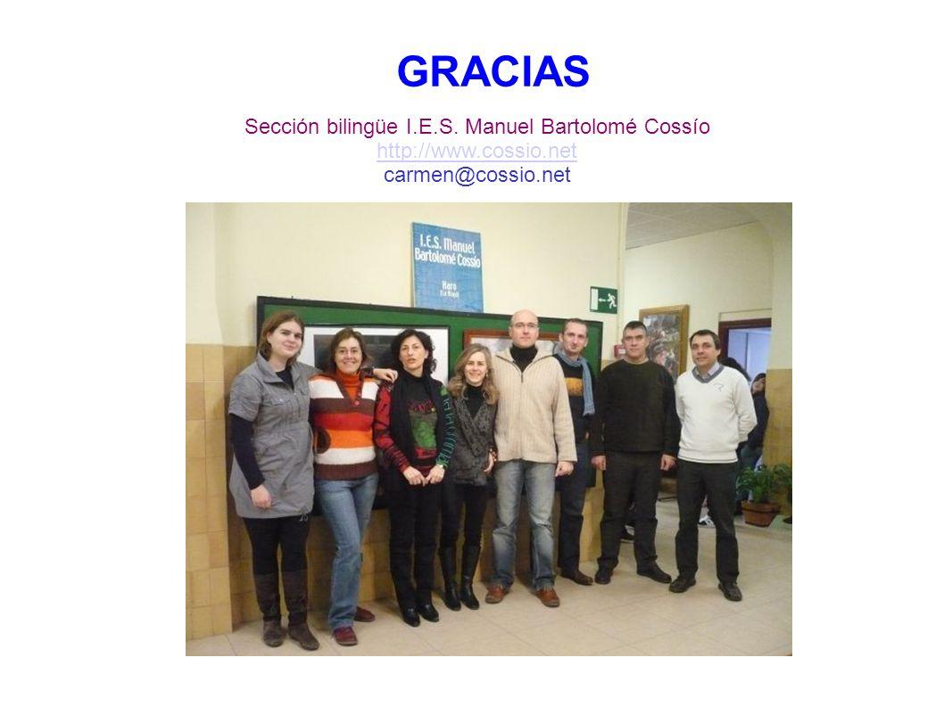 Sección bilingüe I.E.S. Manuel Bartolomé Cossío