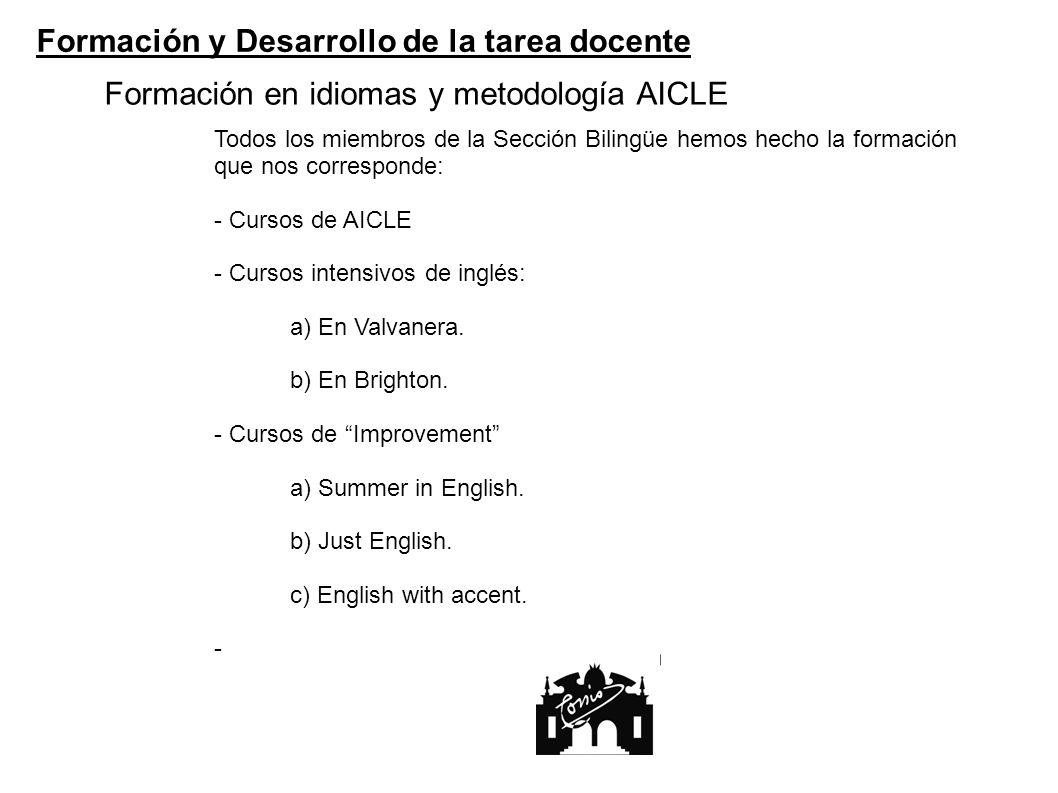Formación en idiomas y metodología AICLE