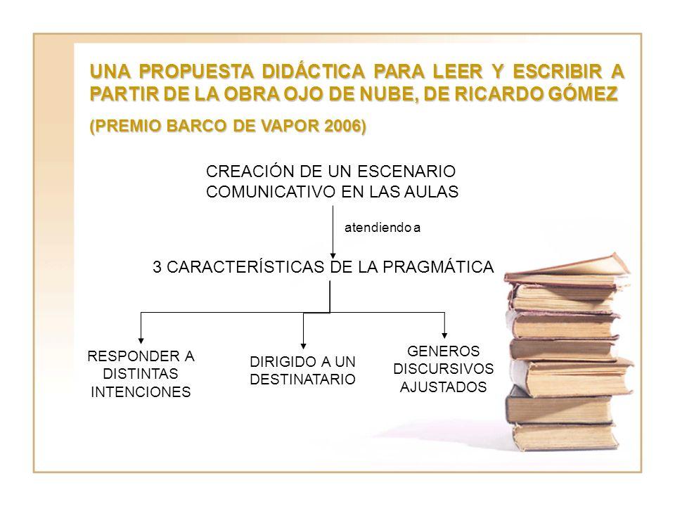 UNA PROPUESTA DIDÁCTICA PARA LEER Y ESCRIBIR A PARTIR DE LA OBRA OJO DE NUBE, DE RICARDO GÓMEZ