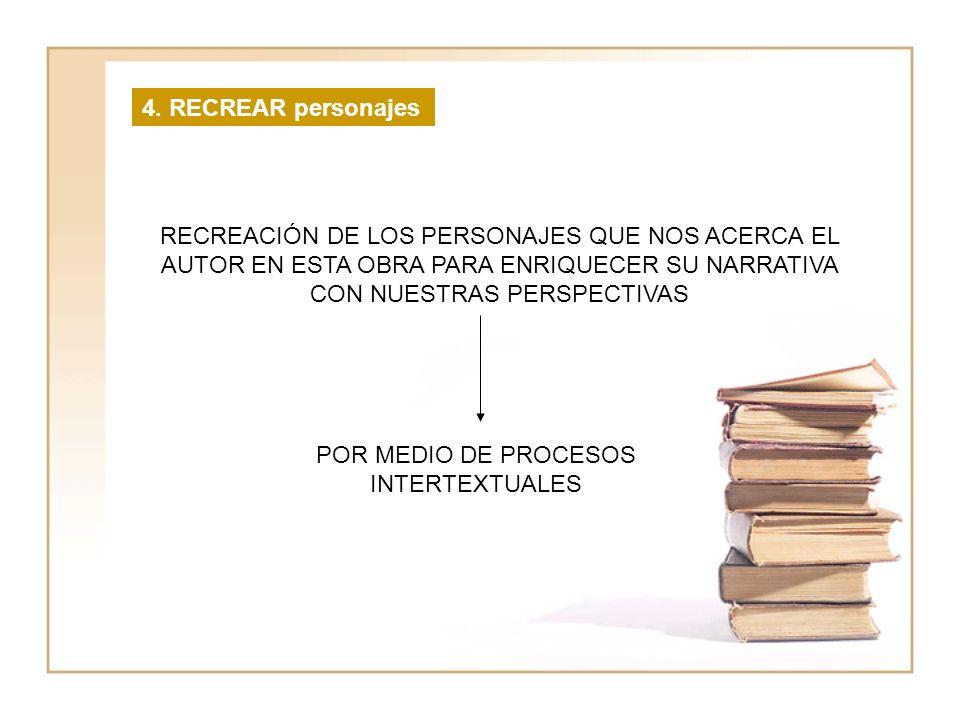 POR MEDIO DE PROCESOS INTERTEXTUALES