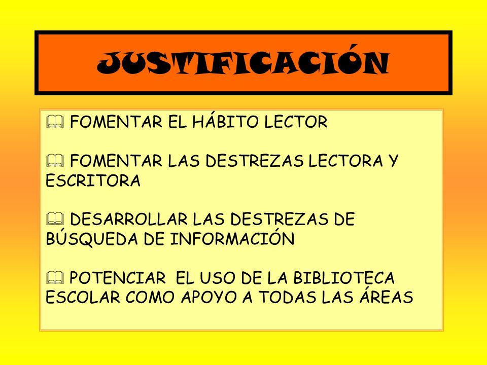 JUSTIFICACIÓN FOMENTAR EL HÁBITO LECTOR