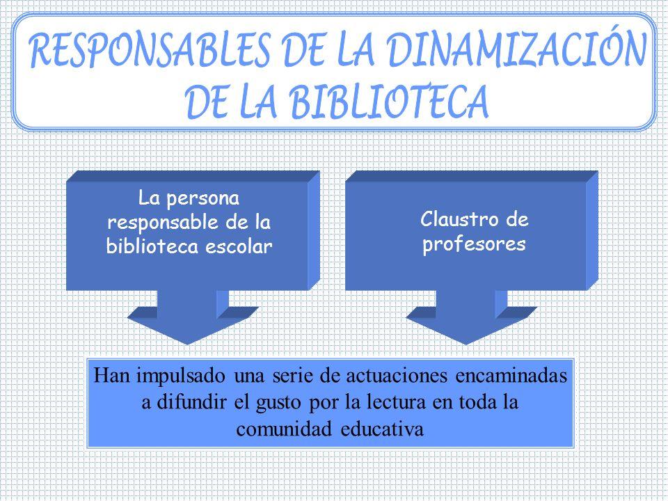 RESPONSABLES DE LA DINAMIZACIÓN DE LA BIBLIOTECA