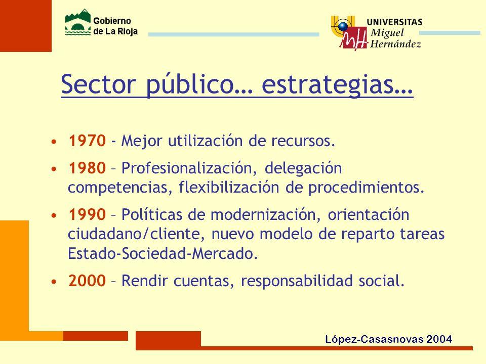 Sector público… estrategias…