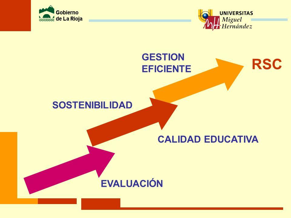 GESTION EFICIENTE RSC SOSTENIBILIDAD CALIDAD EDUCATIVA EVALUACIÓN