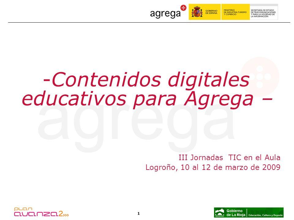 Contenidos digitales educativos para Agrega –