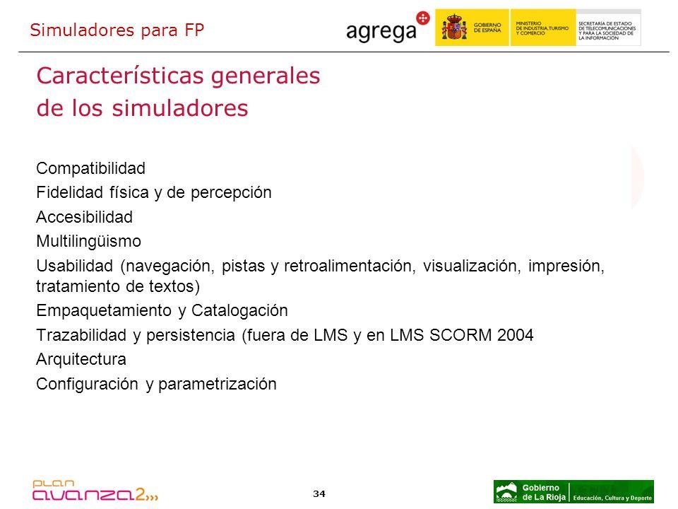 Características generales de los simuladores