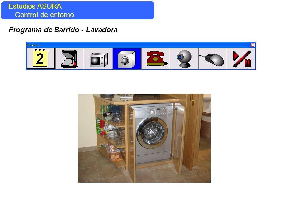 Estudios ASURA Estudios ASURA Control del entorno Control de entorno Programa de Barrido - Lavadora