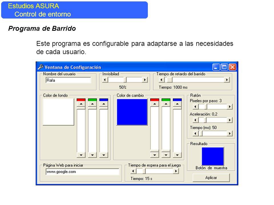 Estudios ASURA Estudios ASURA. Control del entorno. Control de entorno. Programa de Barrido.
