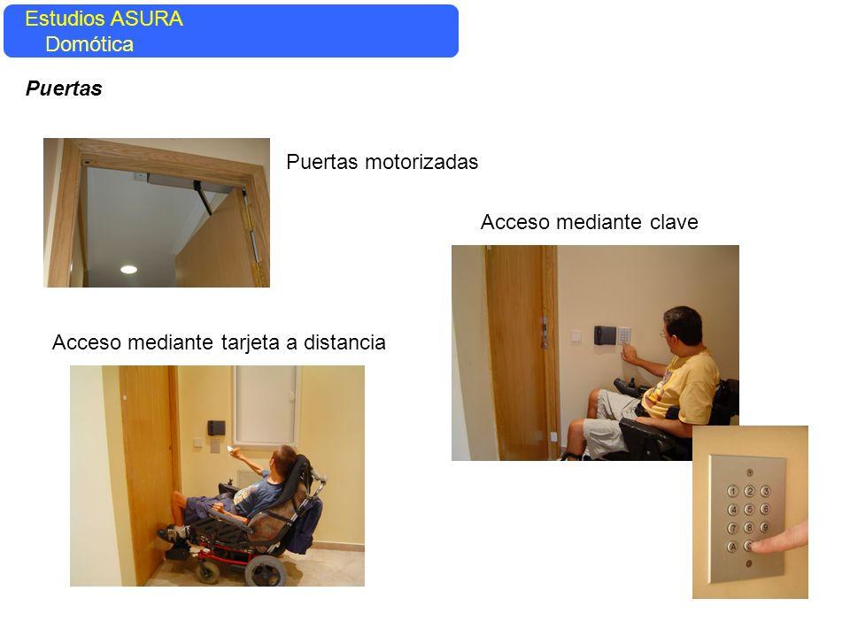 Estudios ASURA Domótica. Puertas. Puertas motorizadas.
