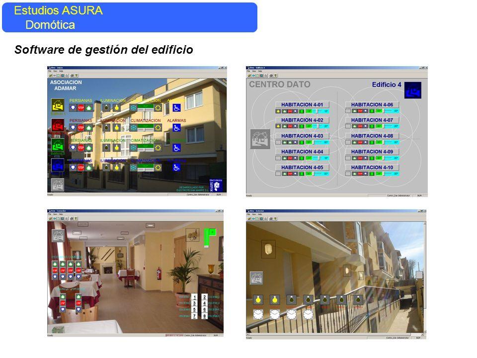 Estudios ASURA Domótica Software de gestión del edificio