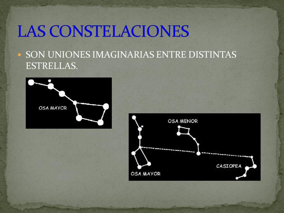 LAS CONSTELACIONES SON UNIONES IMAGINARIAS ENTRE DISTINTAS ESTRELLAS.