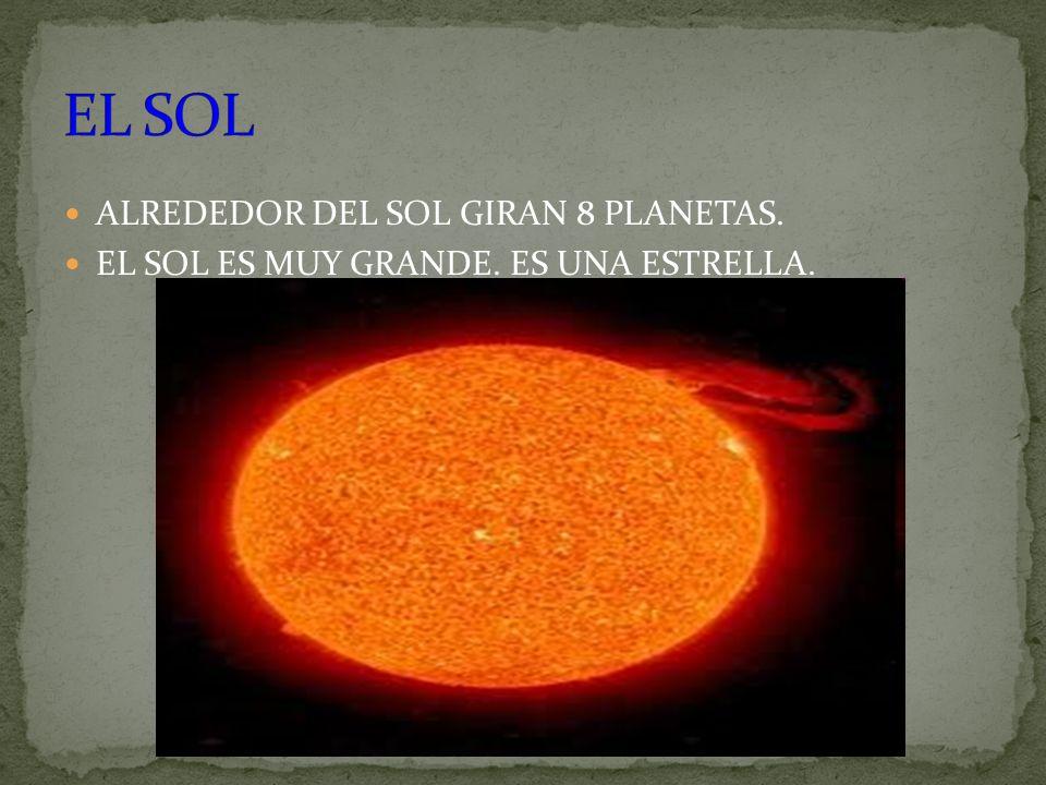 EL SOL ALREDEDOR DEL SOL GIRAN 8 PLANETAS.