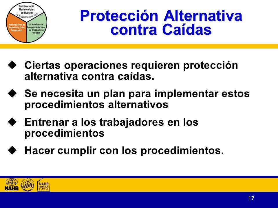 Protección Alternativa contra Caídas