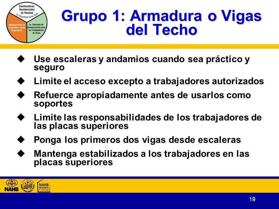 Grupo 1: Armadura o Vigas del Techo