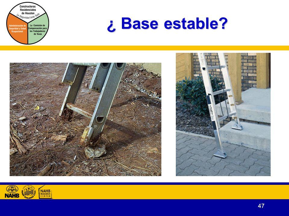 ¿ Base estable Para mantener estabilidad, no coloque piedras u otros escombros como cuña.