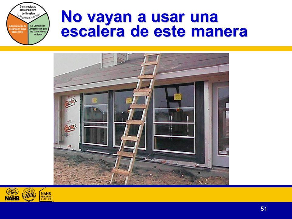 No vayan a usar una escalera de este manera