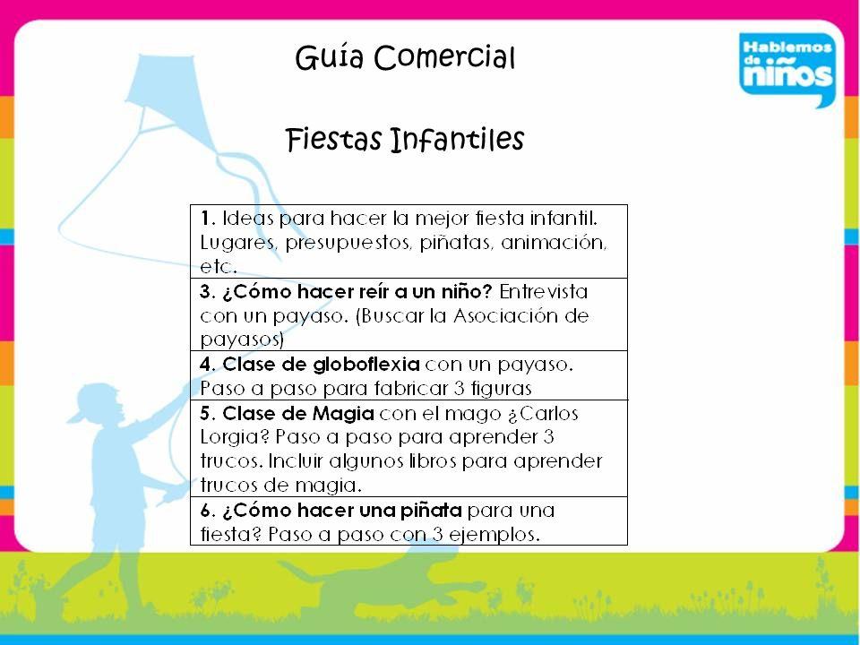 Guía Comercial Fiestas Infantiles