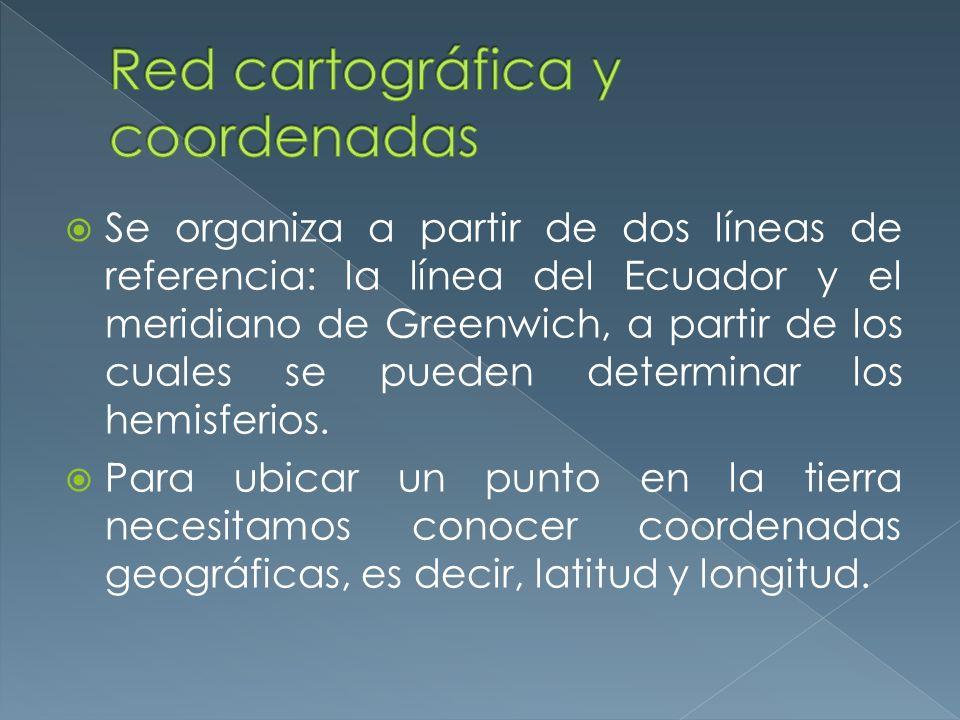 Red cartográfica y coordenadas