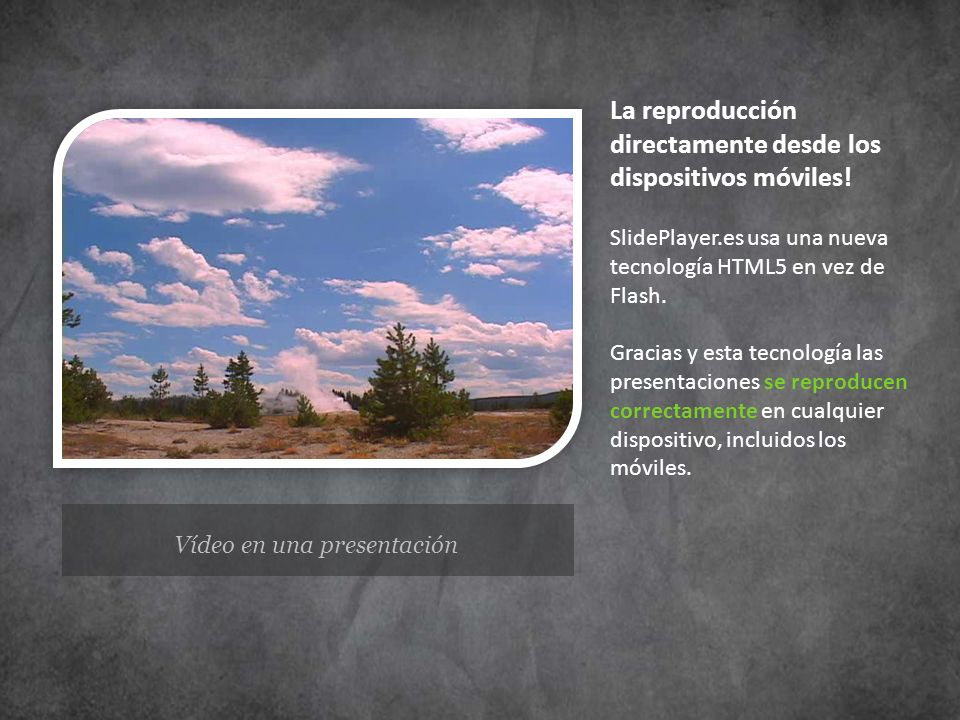 Vídeo en una presentación