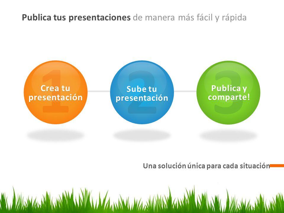 1 2 3 Publica tus presentaciones de manera más fácil y rápida
