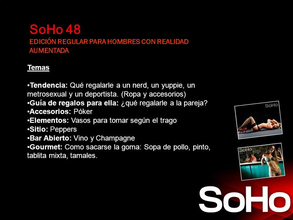 SoHo 48 EDICIÓN REGULAR PARA HOMBRES CON REALIDAD AUMENTADA Temas