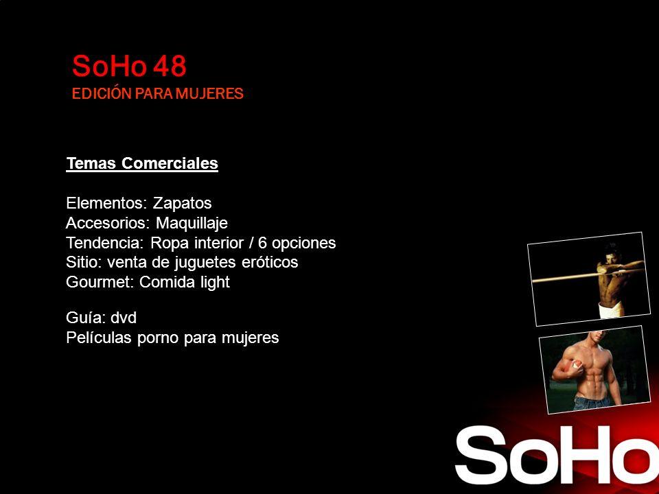 SoHo 48 EDICIÓN PARA MUJERES Temas Comerciales Elementos: Zapatos